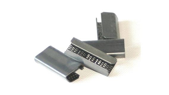 Kunststoffbandhülsen 16 x 30 x 1,0 mm geriffelt