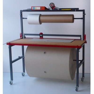 Packtisch mit integriertem Schneidständer 125 cm