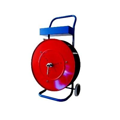 Abrollwagen für PET-Band mit 406 mm Kern