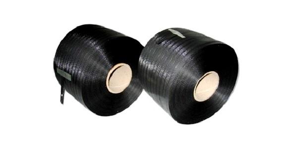 Polypropylenband schwarz 12,7 x 0,60 mm, 600 m Rolle
