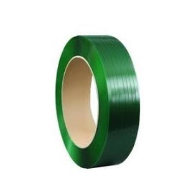 PET-Band grün geprägt, 15,5 x 0,70 mm, 1750 m Rolle