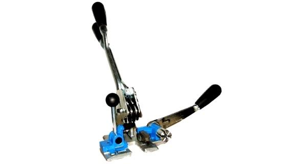 Kombispann- und Verschlußgerät für 16 mm PP-band
